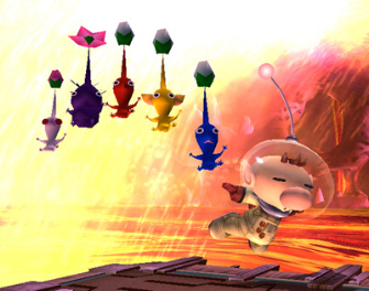 The Pikmin and Olimar are playable in Super Smash Bros. Brawl on Wii