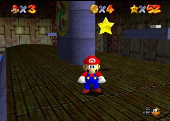 Super Mario 64 Screenshot - Dire Docks Submarine