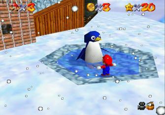 Super Mario 64 Screenshot - Penguin Talk