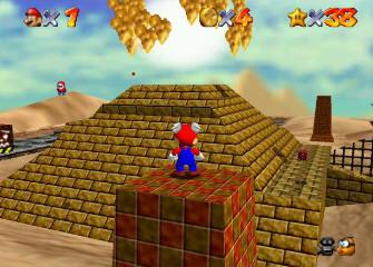 Super Mario 64 Screenshot - Wing Cap