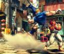 Abel of Street Fighter IV screenshot, fights Ryu