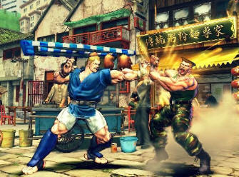 Abel of Street Fighter IV fights Guile screenshot