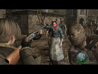 Resident Evil 4 Wii Screenshot - Sprint Contextual Action Button
