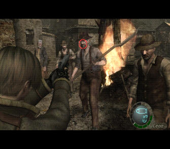 Resident Evil 4 Wii Screenshot - Ganado Villagers