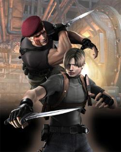 Resident Evil 4 Wii Art - Leon & Krauser