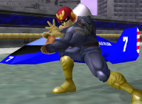 Captain Falcon Character Super Smash Bros. Melee Screenshot