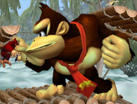 Donkey Kong Character Super Smash Bros. Melee Screenshot