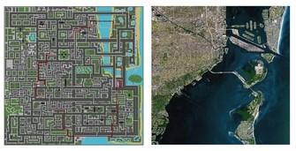 Grand Theft Auto 1 Vice City and Miami map