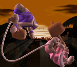 Ice Climbers Belay Move - Super Smash Bros. Melee Screenshot