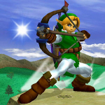 Link Arrow Move - Super Smash Bros. Melee Screenshot