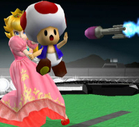 Peach, Toad, Missile! Super Smash Bros. Melee