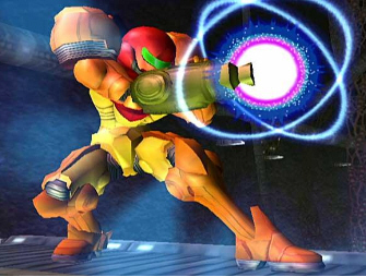 Samus' Beam Shot Move - Super Smash Bros. Melee Screenshot