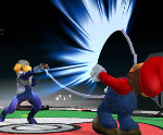 Sheik's Chain Move - Super Smash Bros. Melee Screenshot
