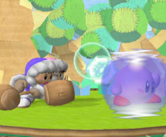 Kirby Shield - Super Smash Bros. Melee Screenshot