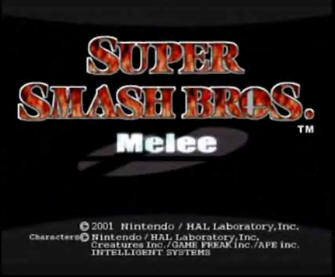 Super Smash Bros. Melee Title Screen