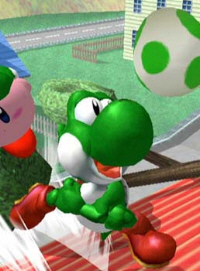 Yoshi Character Super Smash Bros. Melee Screenshot