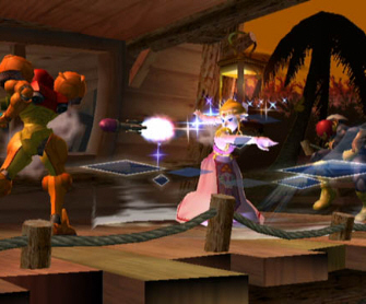 Zelda Reflects Missile - Super Smash Bros. Melee Screenshot