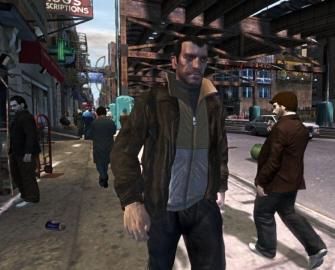 Grand Theft Auto IV Niko freeze-frame