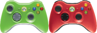 Xbox 360 controller colors green and red