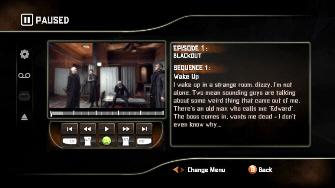 Screenshot of the Alone in the Dark DVD-Style Menu