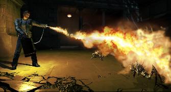Burning with fire is fun! (Alone in the Dark Screenshot)
