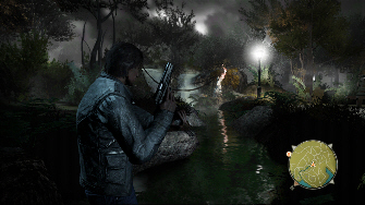 This is a typical gameplay screenshot from Alone in the Dark