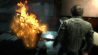 You can burn wood or other objects - Alone in the Dark Screenshot (Xbox 360)
