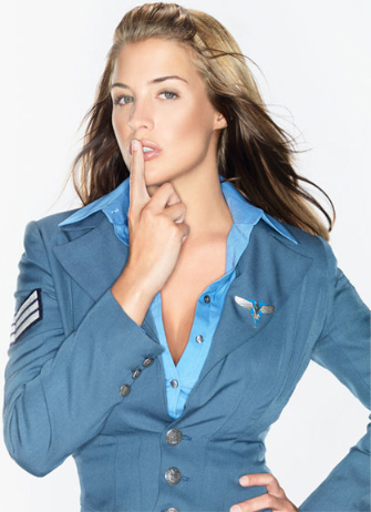 Actress Gemma Atkinson as EVA McKenna in C&C: Red Alert 3