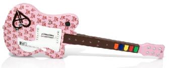Aly's Guitar Hero guitar