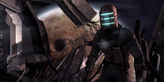Isaac looks out at Dead Space