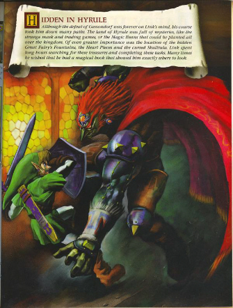 Link Battling Ganondorf Artwork (Zelda: Ocarina of Time)