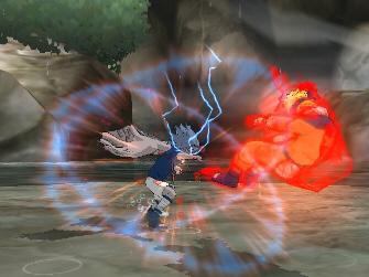 Second State Sasuke VS. Ultimate Nine Tailed Naruto fight in Naruto: Clash of Ninja Revolution 2