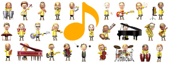 Wii Music song instruments