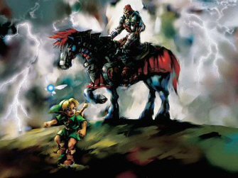 Young Link and Ganondorf Artwork (Zelda: Ocarina of Time)