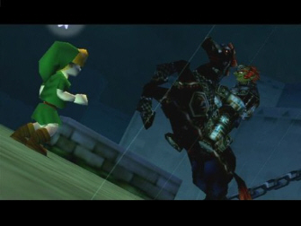 Link is shocked to see Ganondorf in his nightmare