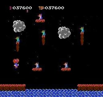 Balloon Fight NES Screenshot 1