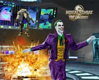 The Joker versus Scorpion in Mortal Kombat vs DC Universe screenshot