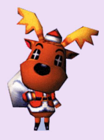 Animal Crossing Jingle the Christmas Reindeer Character Artwork