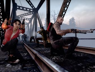 Left 4 Dead 2 characters fighting for life
