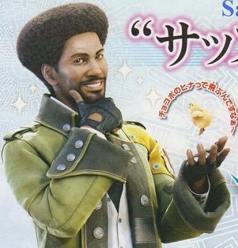 Sazh Character Art from Final Fantasy 13
