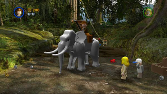 You can ride vehicles and certain animals like elephants in Lego Indiana Jones