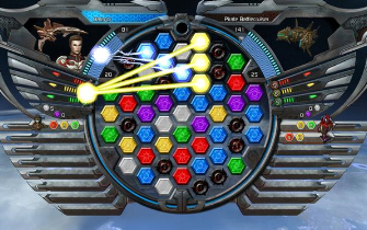 Puzzle Quest: Galactrix has a new hexagonal board