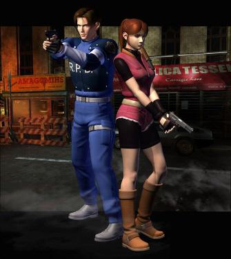 Claire & Leon Resident Evil 2 Artwork