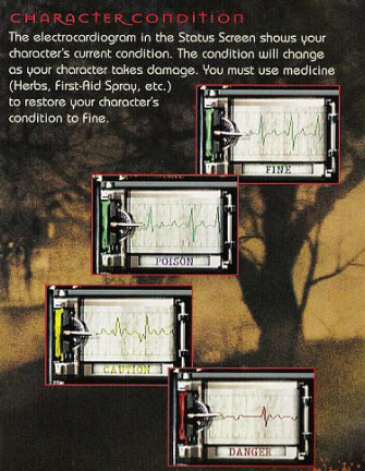 Resident Evil 1 remake GameCube condition instruction book scan