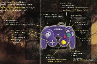 Resident Evil 1 remake GameCube controls instruction book scan