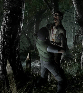 Resident Evil 1 remake GameCube forest screenshot
