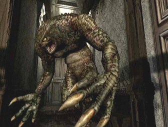 Resident Evil 1 remake GameCube Hunter screenshot