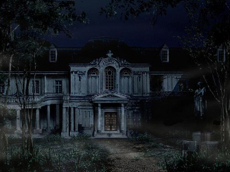 The Mansion artwork from Resident Evil 1 remake on GameCube
