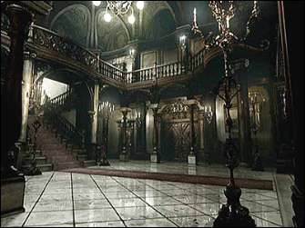 Resident Evil 1 remake GameCube Mansion Main Hall screenshot