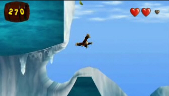 Donkey Kong Jungle Beat Ice Sliding Screenshot. New Play Control
